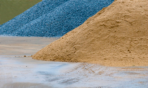 Песок и щебень важные сыпучие материалы для строительства