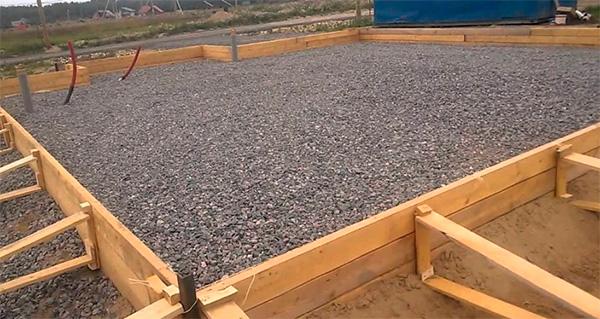 Использование щебня в строительстве дома